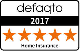 Defaqto 2016 Home Insurance 5 star award logo